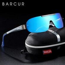 Мужские Солнцезащитные очки авиаторы BARCUR, поляризационные очки из алюминиево магниевого сплава, степень защиты UV400