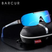 Barcur アルミマグネシウムサングラス男性偏光サングラス男性パイロットスポーツ眼鏡 UV400