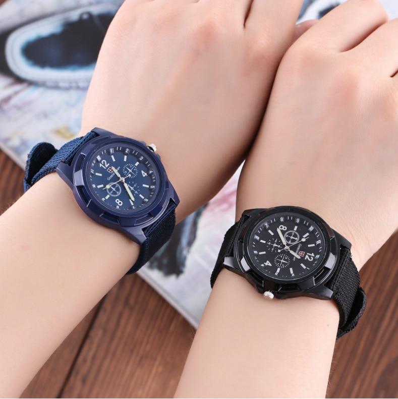 New Men's Nylon Band Sports Watch Gemius Army Clock Quartz Men Military Watch Casual Wristwatches Relogio Masculino Erkek Saat