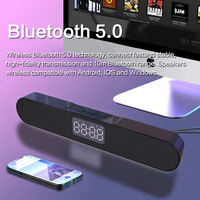 Led sem fio bluetooth alto-falante bluetooth com rádio fm despertador casa teatro surround subwoofer aux usb para pc tv
