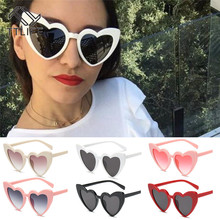 TTLIFE Fashion Love Heart Sunglasses Women Cute Sexy Retro Cat Eye Vintage Red Female Brand Designer Sunglass Pink