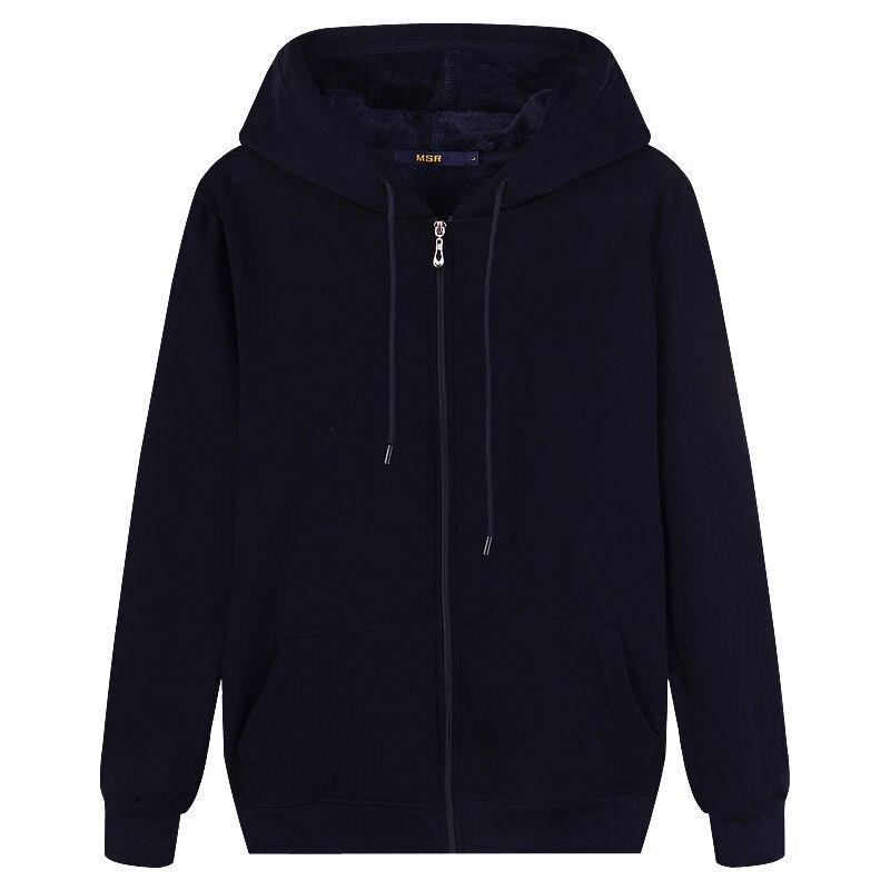 2020 Autumn Winter Mens Sweatshirts Solid Slim Long Sleeve Warm Hoodies Men Stand Collar Zipper Coats Men Hoodies 6