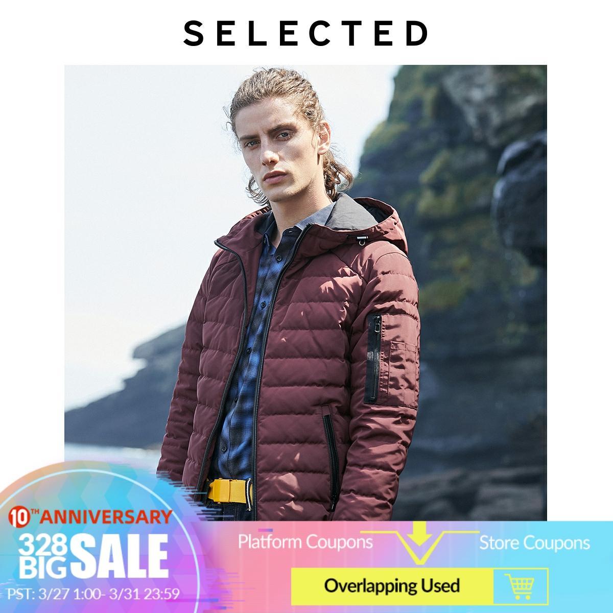 SELECTED Men's Winter Hooded Parka Duck Down Coat New Male Jacket Outwear S | 419312503