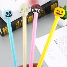 Kawaii novel Halloween funny black 0.5mm gel pen Student Cartoon writing blue neutral pen Office School Supplies gift цена