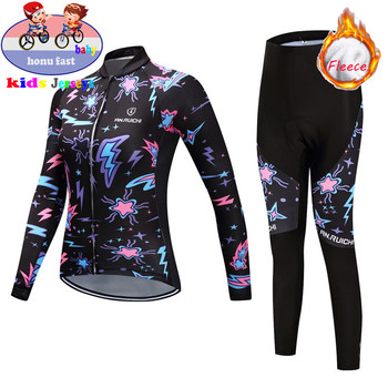 Pro 2020 Kids Winter Thermal Fleece Cycling Jersey Set MTB Bicycle Girl Cycling Clothes Warm Bike Children Cycling Clothing Suit pro cycling jersey set cycling wear for summer mountain bike clothes bicycle clothing mtb bike cycling clothing cycling suit
