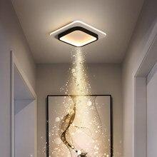 Led lâmpada do teto para casa corredor quadrado redondo na cozinha varanda corredor moderno lustre luminária de iluminação interior