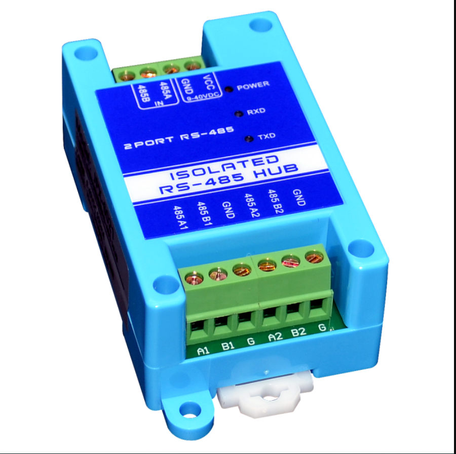 485 Repeater Photoelectric Isolation Industrial Grade RS485 Hub 2 Port Signal Amplifier Anti Jamming Lightning Protection