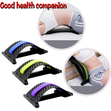 Back Stretcher Waist Spine Pain Relief Magic Massager Spine Corrector Lumbar Support Spinal Traction Cushion Relaxation Fitness