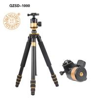 QZSD Q1000 Professional Photographic Tripod For SLR Camera Tripod Ball Head Monopod Hight 1630MM Action Camera Accessories