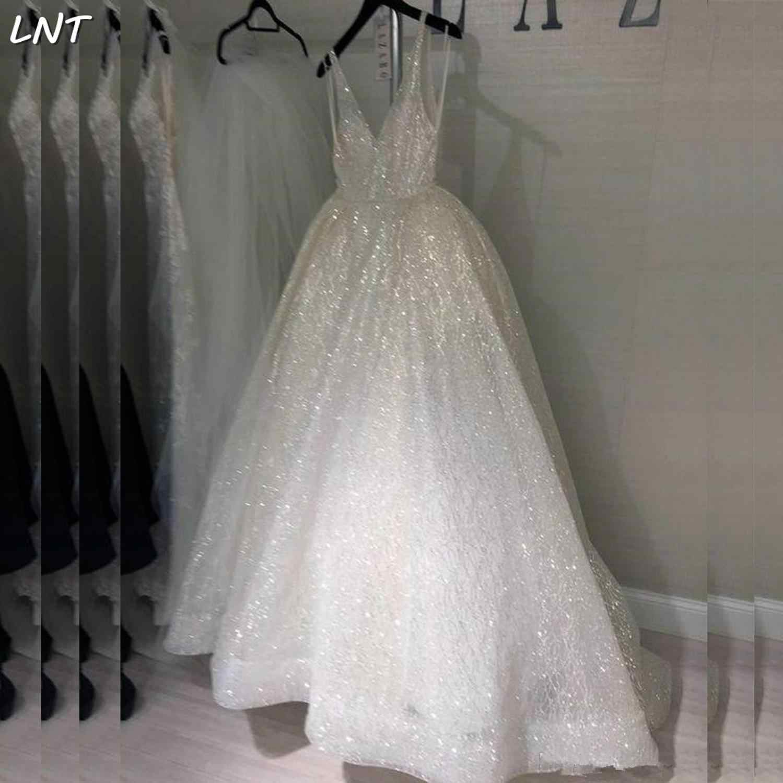 V Neck Sparkle Glitter Wedding Dresses V Back Bridal Dresses Bride Custom Gown Aliexpress,80s Wedding Dress For Sale