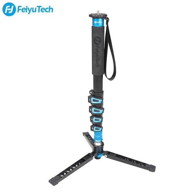 FeiyuTech karbon Fiber kamera Monopod 4 Section çok fonksiyonlu Video Monopod tabanı için tasarlanmış DSLR kameralar/Gimbal sabitleyici