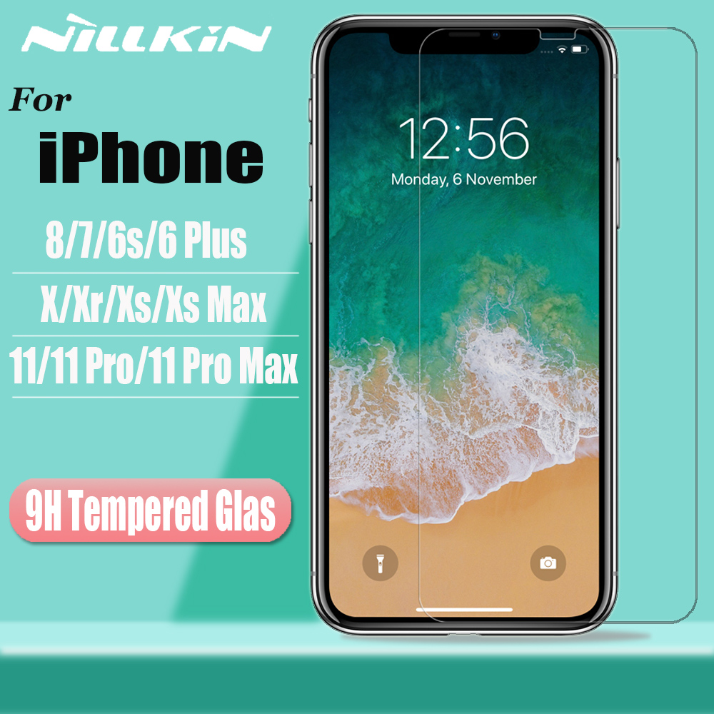Nillkin Tempered Glass for <font><b>iPhone</b></font> 11 Pro Max <font><b>X</b></font> Xr <font><b>Xs</b></font> Max Screen Protector Safety Protective Glass for <font><b>iPhone</b></font> 8 7 6s 6 Plus <font><b>Film</b></font> image