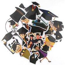 15pcs/lot Graduation Season Creative Sticker for Paper Notebook Adhesive Tape Car Luggage Diy Decoration Graffiti AT2882