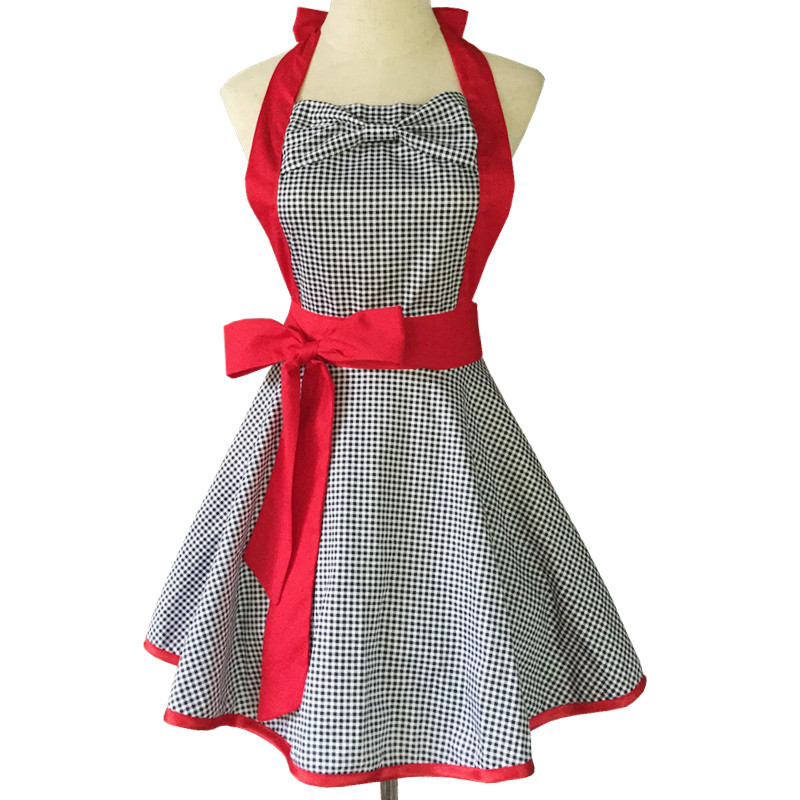New Soft Cotton Apron Halter Cross Bandage Aprons Retro Style X Shape Kitchen Cooking Clothes Gift For Women Chef Housewarming