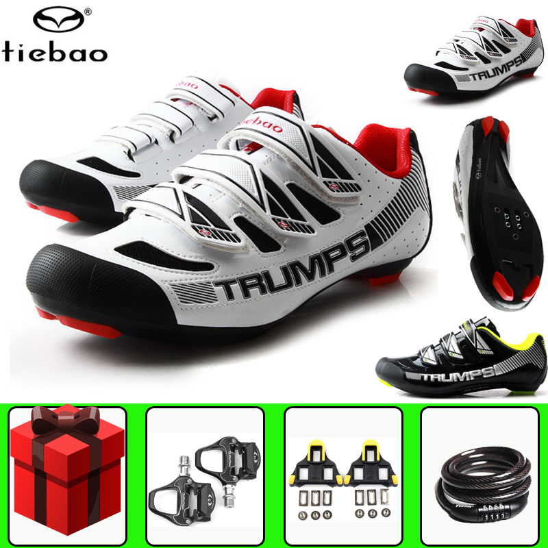 Tiebao Road Cycling Shoes sapatilha ciclismo Bike Breathable Self-locking Men Sneakers Women Racing Non-slip Zapatillas Ciclismo