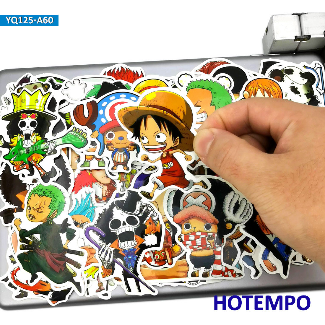 60pcs Japan TV Cartoon One Piece Luffy Zoro Nami Chopper Anime Stickers For Kids Mobile Phone Laptop Luggage Waterproof Stickers