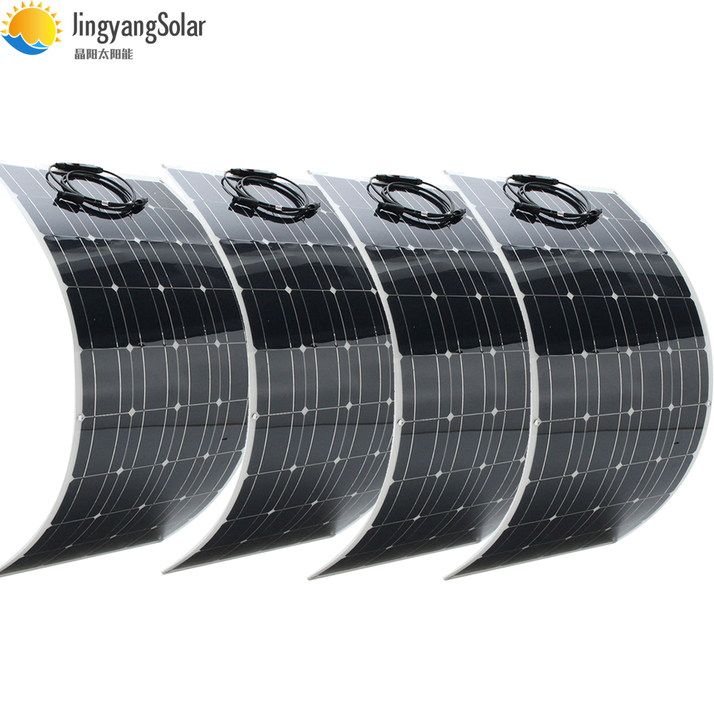 400W Solar Panel Equal 4pcs 100w Solar Panel Mono Solar Cell 100W Solar Panel 12v Solar Charger For RV Home Boat 200w 300w