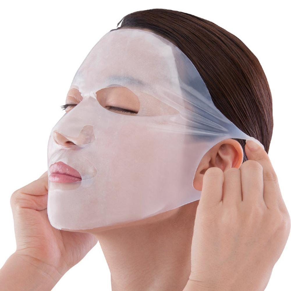 5pcs Reusable Silicone Face Skin Care Mask For Sheet Mask Prevent Evaporation Steam Reuse Waterproof Mask Pink/White Beauty Tool