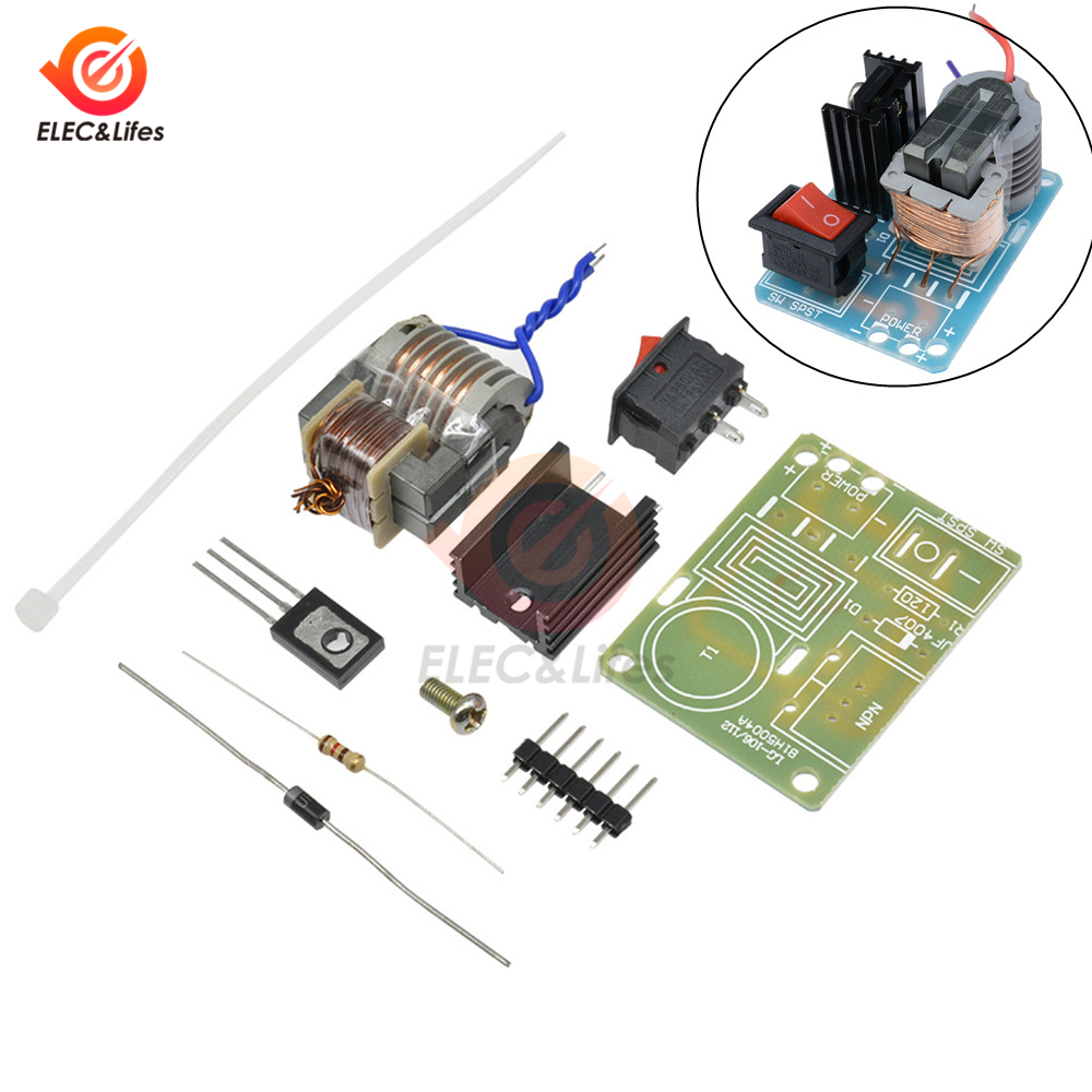 <font><b>DIY</b></font> Kit 15KV High Frequency High Voltage Arc Ignition Coil Generator <font><b>Inverter</b></font> Module Boost Power Supply Tansformer PCB <font><b>Board</b></font> image