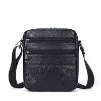 inclined bag business cowhide single shoulder bag leisure men's leather bag Men's Shoulder Genuine Leather bags Small m
