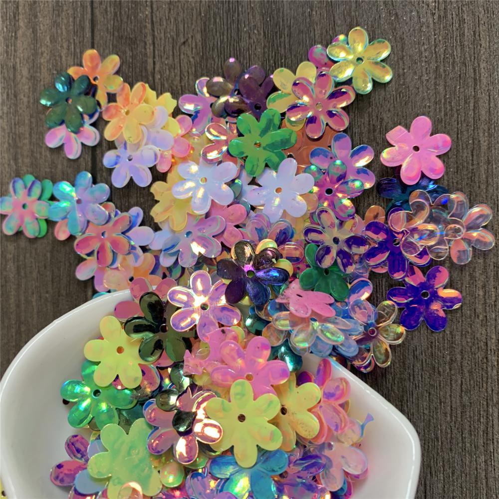 Hexapetalous Flowers Sequins Loose Sequins Pvc Sequin DIY Hat Dress Hair Accessories Toy Accessories