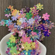 hexapetalous цветы блестки сыпучие ПВХ блесток поделки шляпа платье аксессуары для волос игрушки