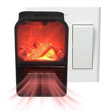 500 Вт 1000 Вт Электрический настенный обогреватель Мини Портативный подключаемый подогреватель для личного пространства внутреннее Отопление Кемпинг место регулируемый термостат