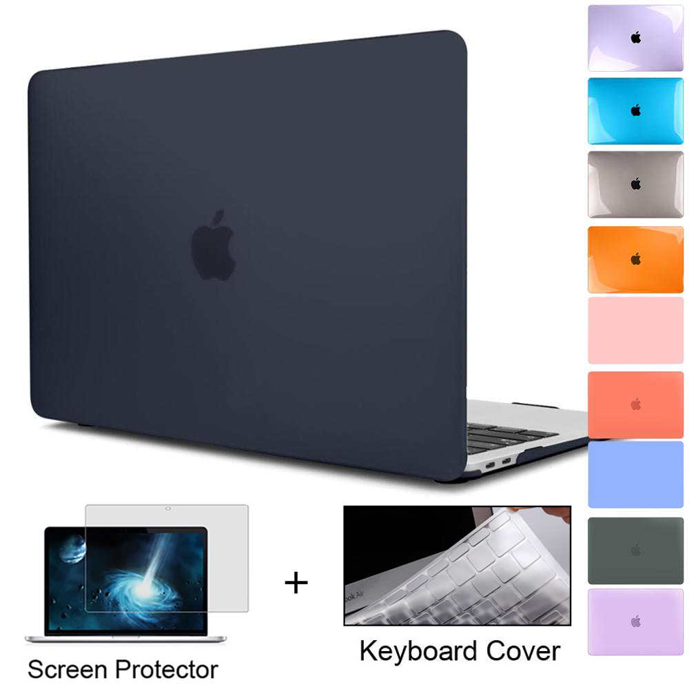 for New MacBook Pro Air 11 12 13 15 16 inch 2020 2019 A2289 A2179 A2337 Matte Clear Laptop Case Free Keyboard Cover+Screen Film