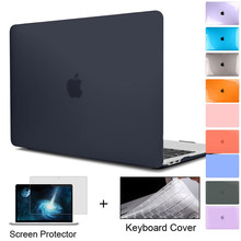 for New MacBook Pro Air 11 12 13 15 16 inch 2020 2019 A2338 A2179 A2337 Matte Clear Laptop Case Free Keyboard Cover+Screen Film