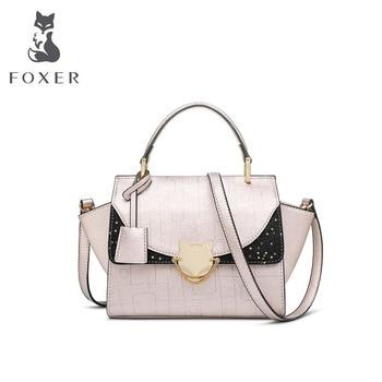 FOXER Women leather bag designer bags famous brand women bags 2020 luxury handbags women bags fashion cowhide bag
