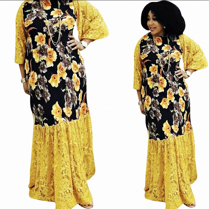 African Dresses For Women Dashiki Summer Plus Size Dress Ladies Traditional African Clothing Fairy Dreams Lace Dresses