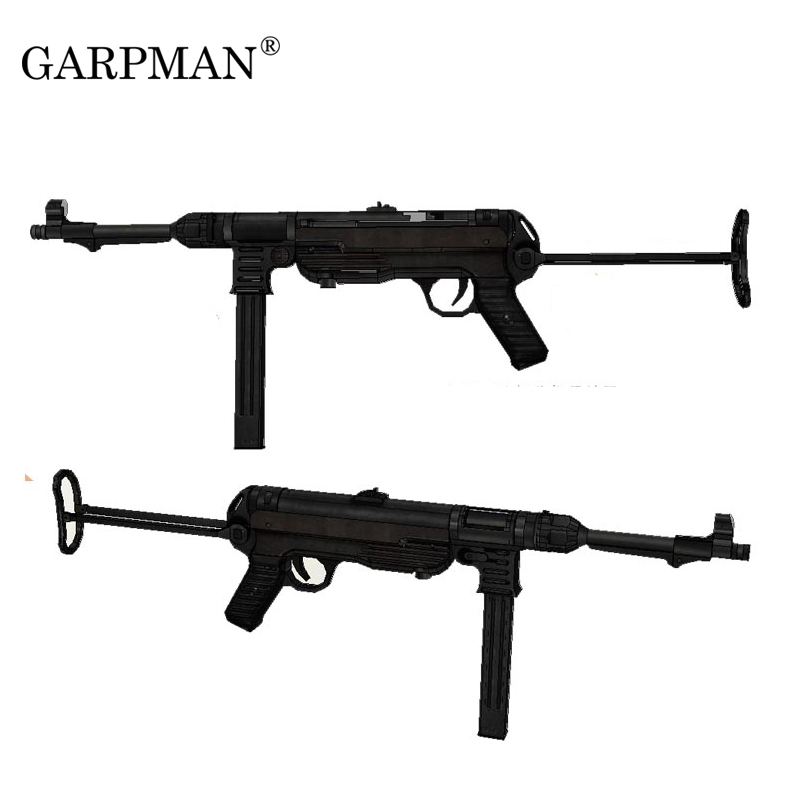 84cm 1:1 German Mp40 Submachine Gun 3D Paper Model Frearms Weapon Handmade Drawings Military Prop Gun Model Papercrafts