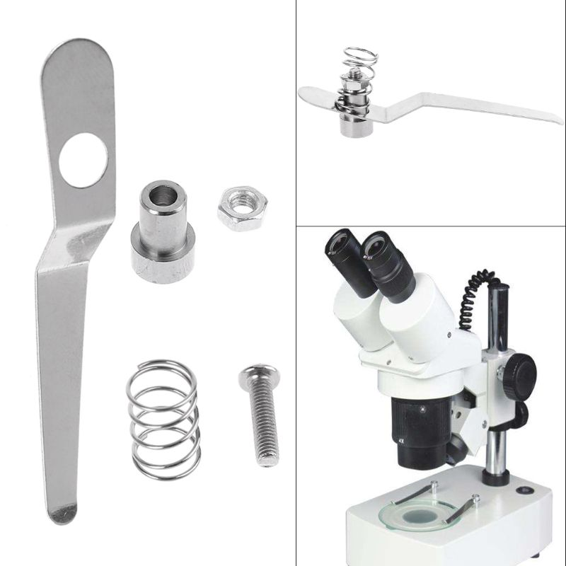 Stainless Steel Specimen Presser Holder Slides Clips For Biological Microscope