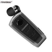 Oryginalny Fineblue F910 bezprzewodowy zestaw słuchawkowy Bluetooth w uchu alarm wibracyjny nosić klip bezprzewodowy słuchawki do smartfonów słuchawki