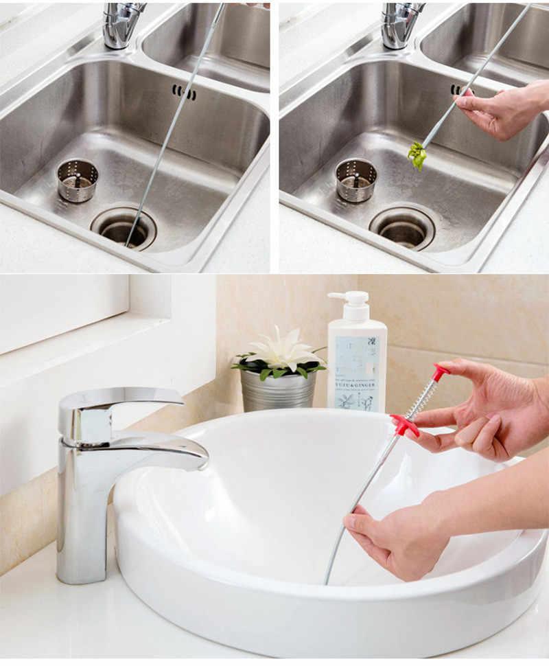 Pipe Cleaner 2020 Top Sink Schoonmaken Haak Badkamer Floor Riool Bagger Apparaat Klein Gereedschap Creatieve Pijpreiniger Limpiapipas