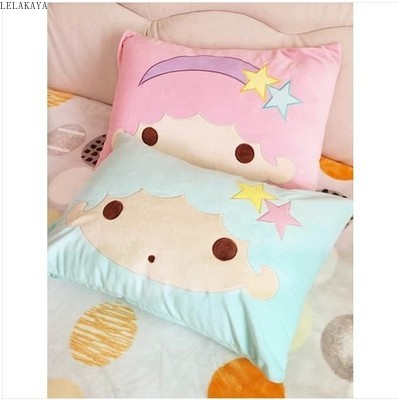 Cute Little Twin Star Pillow Case Home Bedroom Pillows Cover Cartoon Decorative Pillowcase Plush Soft Stuffed Sakura Bedding Toy