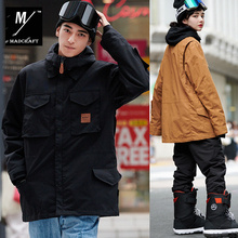 New outdoor brands unsex ski suit men winter m65 snow jacket skiing and snowboarding windproof waterproof wear warm -30