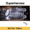 338 шт. DECOOL 7115 высокотехнологичных Бэтмобиль летучей мыши Pod автомобиля строительный блок автомобиль массажер набор блоков, игрушки для дете...