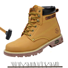 Mens Steel Toe Work Safty Shoes Army Boot Men Desert Tactical Military Boots Zapatos De Hombre Ankle Lace-up Combat