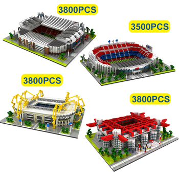 3800Pcs Famous Architecture Building Blocks Football Field Model World Classic City Bricks Model Kids Toys Gifts bela architecture london skyline collection gift building blocks sets city bricks classic model kids toys compatible legoe