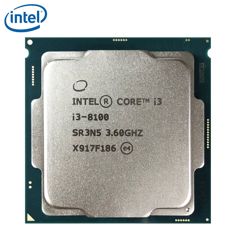 Procesador Intel Core i3 8series, I3 8100 I3-8100 CPU LGA 1151-land FC-LGA 14 nanómetros Quad-Core usado dusktop Procesador Intel Core™ i3-8100 3,6 Ghz 6 MB LGA 1151 BOX