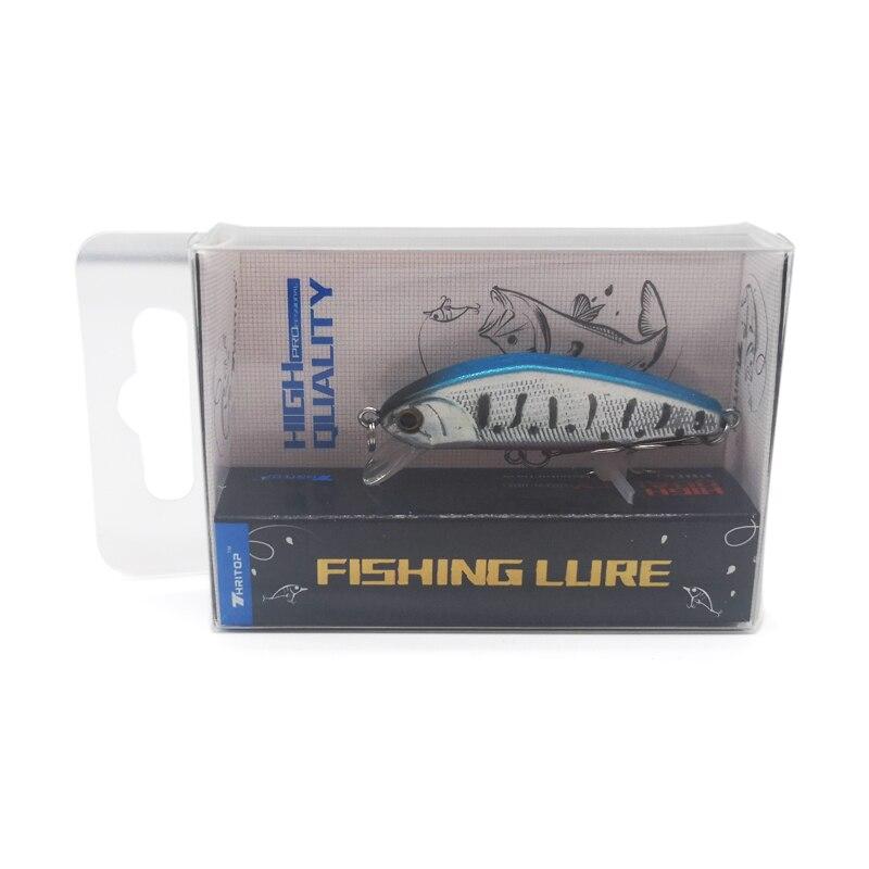 Купить с кэшбэком Thritop Minnow Fishing Bait Hard Lure TP107 Sharp Hooks 45mm 3.5g Artificial Carp Fishing Pike Bass Tackle Tools