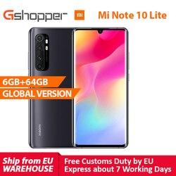 Глобальная версия Xiaomi Mi Note 10 Lite 6 ГБ 64 Гб Snapdragon 730G 64MP AI Quad камера Многофункциональный NFC MIUI 11 5260 мАч батарея
