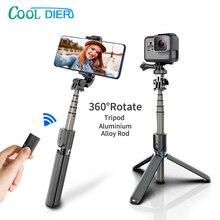 Alta qualidade sem fio bluetooth selfie vara tripé com remoto palo selfie extensível dobrável monopé para câmera de ação iphone