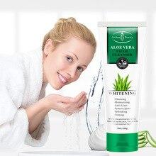 Aichun aloe facial cleanser refreshing facial cleanser hydrating deep cleansing mild oil control moisturizing