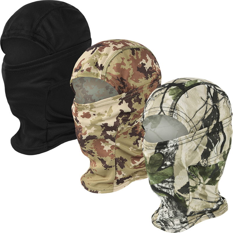 Outdoor Full Face Mask Camouflage Bicycle Ski Bike Snowboard Sports Face Cover Hiking Tactical Military Balaclava Hat Cap