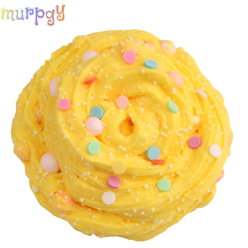 60ml Fluffy Slime Foam Balls Beads Glue For Toys Anti Stress Goo Charm Lizun Putty Butter for Kids Children Hand Gum