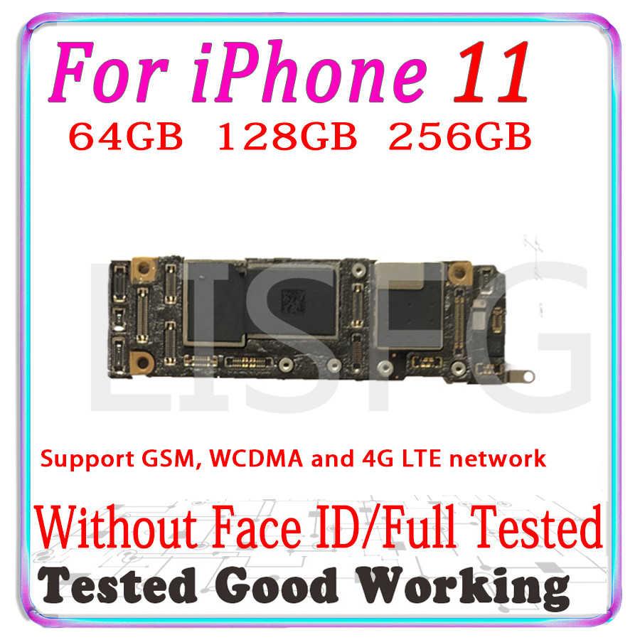 """Boa testado Para iPhone 11 6.1 """"Desbloqueado Motherboard placa Com Face ID Para iPhone XS, placa lógica Com Chips LTE Apoio 4 11G"""