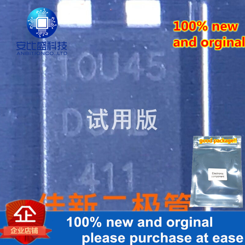 30pcs 100% New And Orginal SD10U45L 10A45V High Power Low Dropout Schottky Diode TO-277 Silkscreen 10U45   In Stock