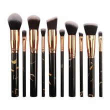10 PCS Make Up Brushes Multifunctional Makeup Brushes Concealer Eyeshadow Foundation 2019 Makeup Brush Set Tool pincel maquiagem недорого